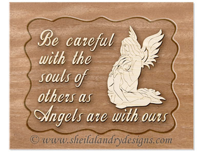 Scroll Saw Angel Religious Pattern