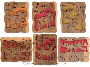 Scroll Saw Animal Tracks Pattern Set