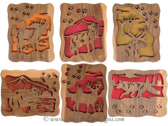 Scroll Saw Animal Tracks Pattern Set