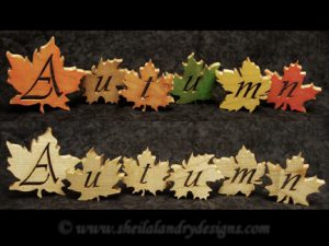Scroll Saw Autumn Leaves Pattern