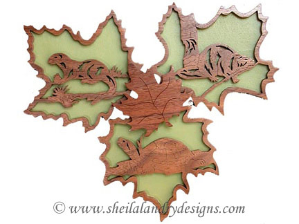 Scroll Saw Beaver Otter & Turtle Pattern