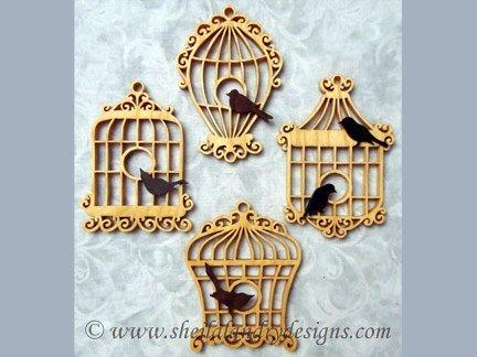 Scroll Saw Bird Cage Ornaments