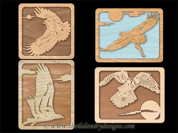 Scroll Saw Birds Of Prey Pattern