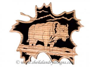 Scroll Saw Bison Pattern