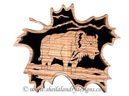 Scroll Saw Bison Pattern