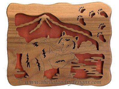 Scroll Saw Black Bear Tracks Pattern