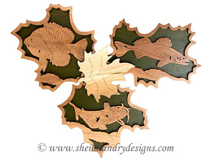 Scroll Saw Bluegill, Pike & Catfish Pattern
