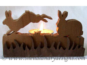Scroll Saw Bunnies Tealight Pattern