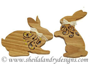 Scroll Saw Bunny Ornaments Pattern