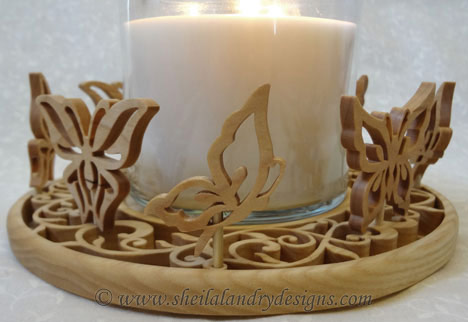 Scroll Saw Candle Holder Pattern