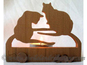 Scroll Saw Cats Tealight Pattern