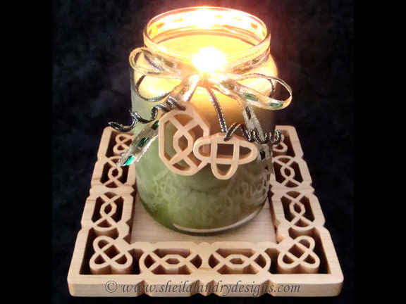 Scroll Saw Celtic Candle Tray