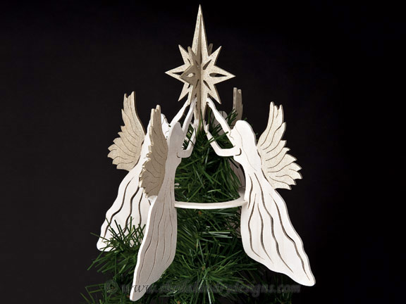 Scroll Saw Christmas Angel Pattern