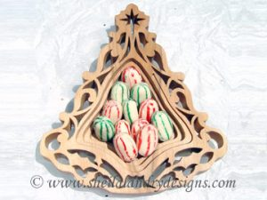 Scroll Saw Christmas Candy Dish