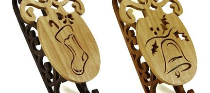 Scroll Saw Christmas Sled Ornaments