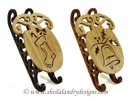 9 Winter Sled Ornaments - Sheila Landry Designs