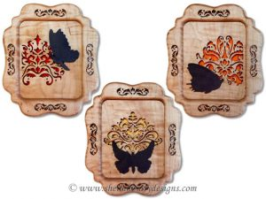 Scroll Saw Damask Butterfly Pattern