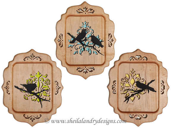 Scroll Saw Damask Songbirds Pattern