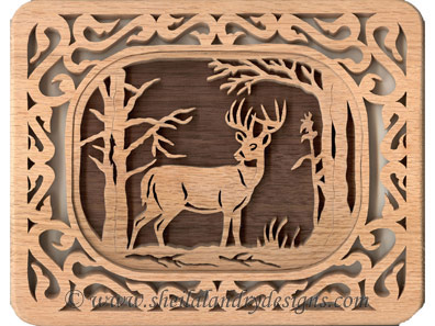 Scroll Saw Deer Pattern