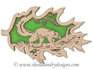 Scroll Saw Delmarva Fox Squirrel Pattern