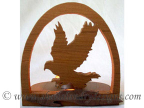 Scroll Saw Eagle Tealight Pattern
