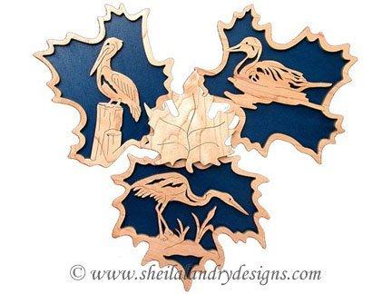Scroll Saw Egret, Pelican & Duck Pattern