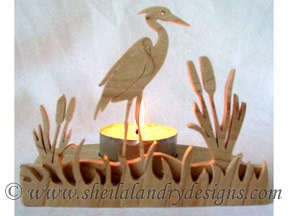 Scroll Saw Egret Tealight Pattern