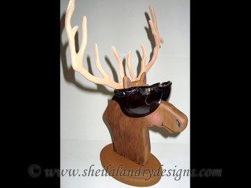 Scroll Saw Elk Eyeglass Holder