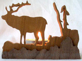 Scroll Saw Elk Tealight Pattern