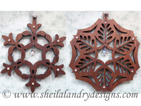 Scroll Saw Embellished Snowflakes Pattern