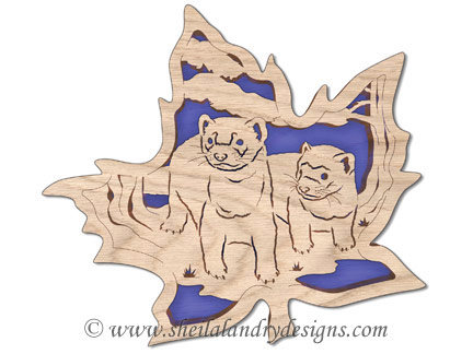 Scroll Saw Ferret Pattern