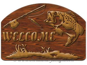 Scroll Saw Fishing Welcome