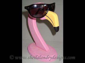 Scroll Saw Flamingo Eyeglass Holder Pattern