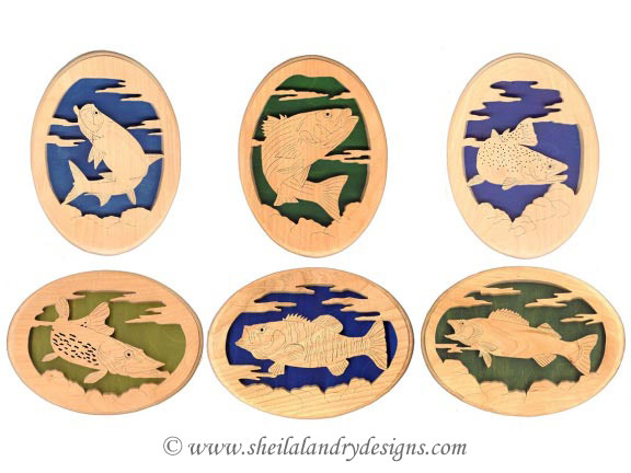 Scroll Saw Freshwater Fish Pattern Set