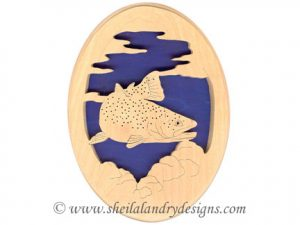 Scroll Saw Golden Trout Pattern