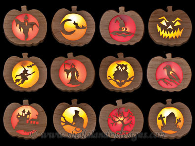 Scroll Saw Halloween Silhouettes Pattern