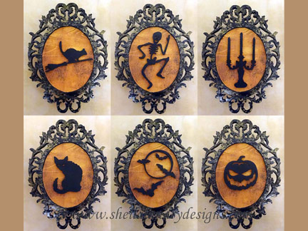 Scroll Saw Halloween Silhouettes