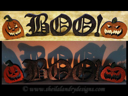 Scroll Saw Halloween Word Pattern