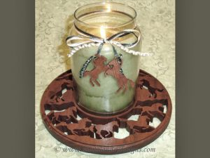 Scroll Saw Horse Candle Holder
