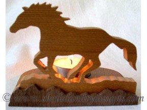 Scroll Saw Horse Tealight Pattern