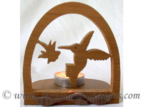 Scroll Saw Hummingbird Tealight Pattern