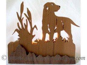 Scroll Saw Hunting Dog Tealight Pattern