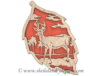 Scroll Saw Key Deer Pattern