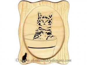 Scroll Saw Kitten Flowerpot Pattern