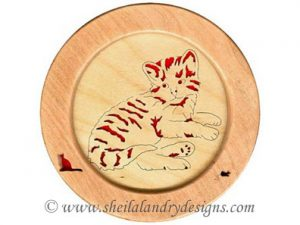 Scroll Saw Kitten Lying Pattern