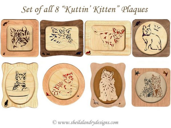 Scroll Saw Kitten Pattern