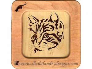 Scroll Saw Kitten Portrait Pattern