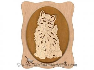Scroll Saw Kitten Sitting Pattern