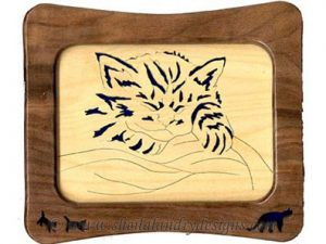 Scroll Saw Kitten Sleeping Pattern