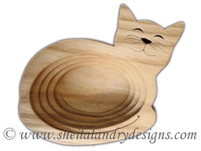 Scroll Saw Kitty Dish